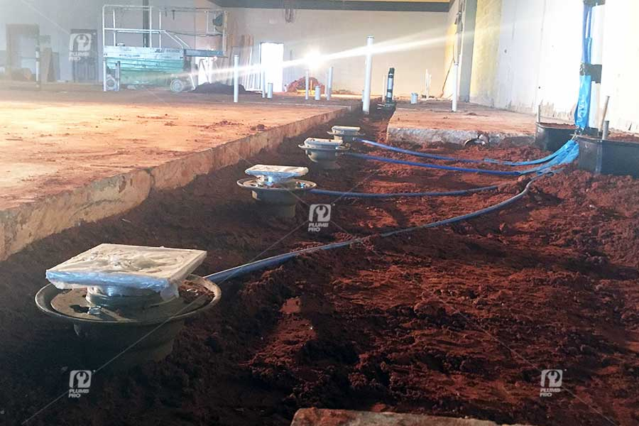 commercial-floor-drain-plumbing-installation | Plumb Pro ...